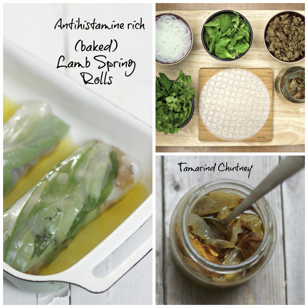 High nutrient antihistamine rich lamb spring rolls