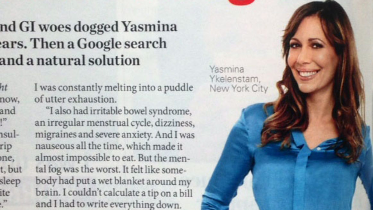 Histamine intolerance in First for Women Magazine