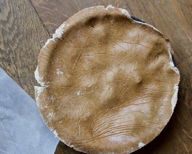 tarte tatin crust over pie tin