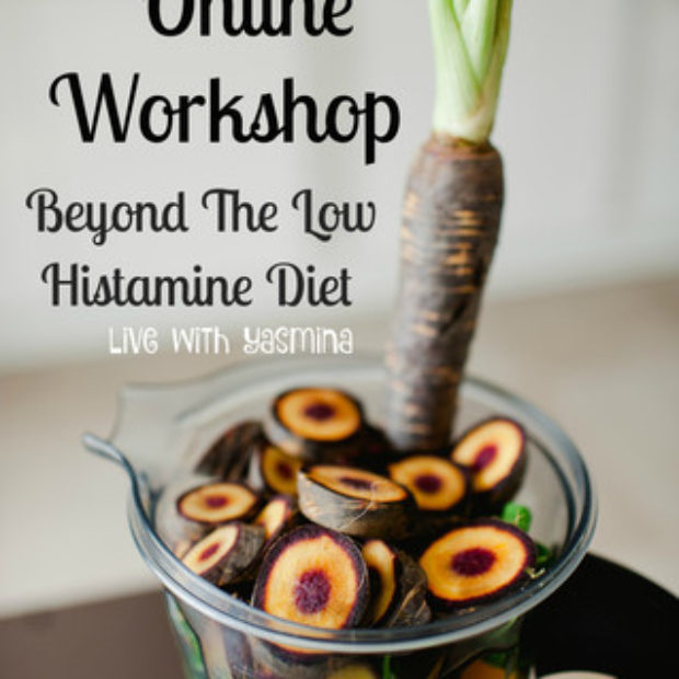 90 min online histamine intolerance diet workshop