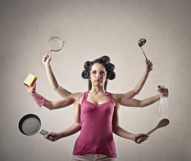 housewife multi tasking