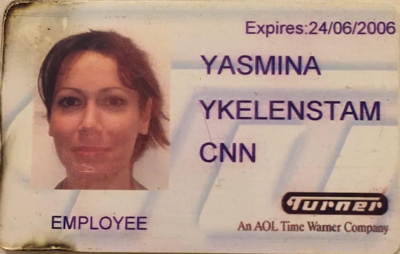 My CNN London bureau press pass