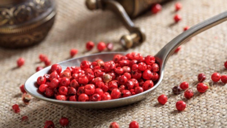 Pink peppercorns are actually antihistamine berries