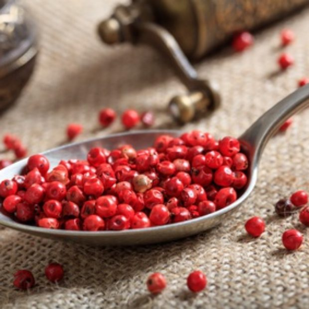 Pink peppercorns are actually antihistamine berries
